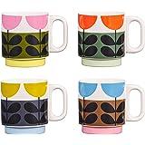 Orla Kiely OK621 4 件套堆叠杯 - 向日葵,陶瓷