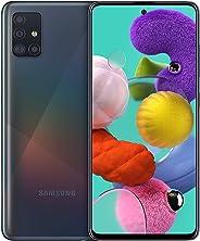 Samsung 三星 Galaxy A51 (16.4 厘米 (6.5 英寸) 128 GB 內部存儲器,4 GB RAM,Dual SIM,Android,棱鏡黑色)德國版