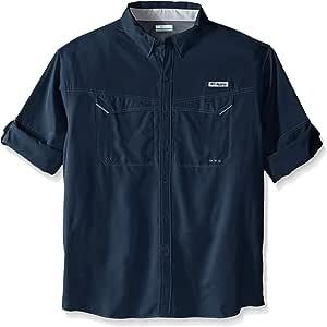Columbia 男士低拖鞋 Offshore 高大款长袖衬衫 1X 蓝色 1450042