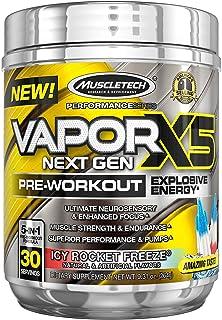 Muscletech Performance系列 Vapor X5,新一代锻炼前补充粉,火箭冰爽味,30份