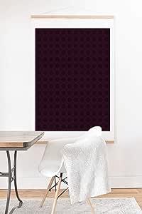 Society6 Sheila Wenzel-Ganny Dark Merlot 圆圈设计艺术印刷品和挂钩,76.2 厘米 x 76.2 厘米,紫色