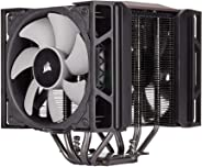 Corsair A500,高性能雙風扇 CPU 散熱器(冷卻高達 250W TDP,直觀滑動鎖定風扇支架,兩個 Corsair ML120 風扇,安裝方便,預貼熱材料)黑色