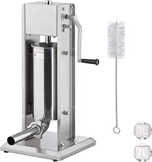 Relaxdays 香肠机,304级不锈钢,手动, 5 个喷嘴,石像香肠填料,扩散。 尺寸,银色 5 litres 10026446_670