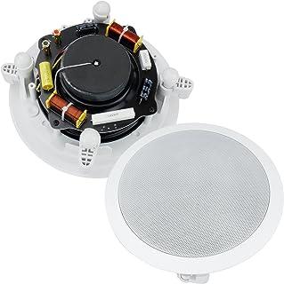 双 6 英寸内墙/内嵌双向立体声音箱带 2.54 厘米丝质圆顶高音扬声器和交叉网络(成对出售)