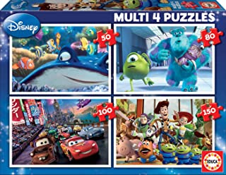 Educa Borras Multi Puzzle 4-in-1 Pixar Nemo Monsters Cars Toy Story