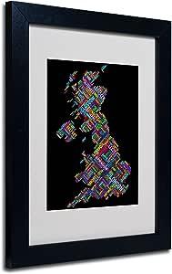 Trademark Fine Art 英国 VII 镶框艺术画,Michael Tompsett 黑框 11 by 14-Inch MT0316-B1114MF
