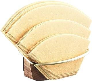 Cone 咖啡过滤器支架 - 阿根廷加壁式安装 - 重力臂式咖啡过滤器存储容器 适用于 Hario、V60、Melitta、Chemex 咖啡过滤器、磁性或损坏粘合剂、胡桃木和黄铜,