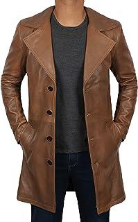 皮革风衣男式 - * 真皮 Duster 大衣男式夹克