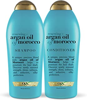 OGX 摩洛哥坚果油洗发水和护发素套装沙龙,尺寸 25.4 盎司,2 支装