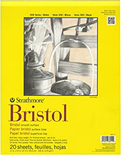 Strathmore Bristol 光面纸张本 11 英寸 X 14 英寸 20 页