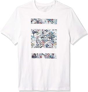 Perry Ellis 男式照片印花短袖圆领 T 恤