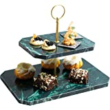 Kitchen Craft MasterClass Artesà 大理石两层蛋糕支架/公用套装,绿色,30 x 20 x 24.5厘米