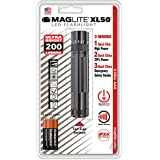 Maglite XL50 LED 3-Cell AAA Flashlight, Gray