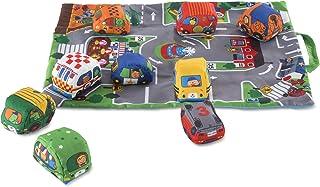 Melissa & Doug 随身携带小镇主题游戏垫子(19.25*14.25英寸/约49*36厘米),含9辆柔软的玩具小车