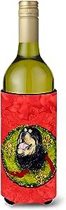 Caroline's Treasures SS4199-Parent Tibetan Mastiff Cristmas 花环超饮料隔热器适用于小型罐 SS4199MUK,多色 多种颜色 750 ml SS4199LITERK