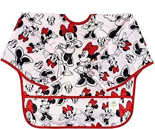 Bumkins Disney Baby Waterproof Sleeved Bib, Minnie Mouse Classic (6-24 Months)