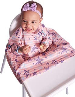 Weaning 围兜,BIBaDO 婴儿喂食连体衣带,适合任何高脚椅,非常适合大众使用