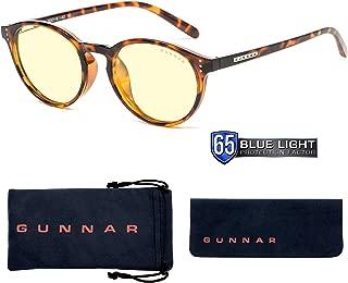 Gunnar Optiks ATT-02301 Attache 电脑眼镜 - 遮蔽蓝光、防眩光、*大程度减少数字*、玳瑁/琥珀色
