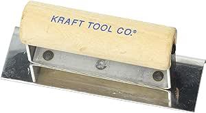 Kraft 工具 0.95cm 半径 1.27 cm 不锈钢水泥边带木手柄 6 x 2-Inch CF160