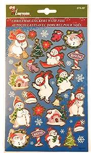 圣诞贴纸 - 包括箔贴纸和闪光贴纸 - 每包 2 张(每包 49 张贴纸)超值! 多重 Single Pack NA