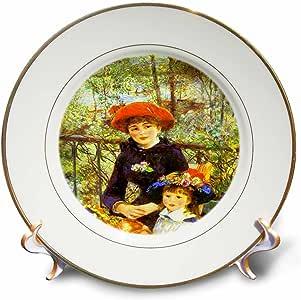 CP 61854florene 著名艺术–renoirs 画 ON THE 露台–盘子
