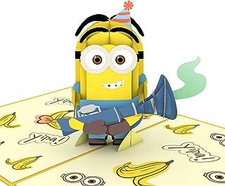 Lovepop 卑鄙的我小黄人生日惊喜卡片、小黄人生日卡、3D 卡、弹出式贺卡、儿童生日卡、庆贺卡