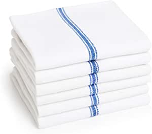Premia 厨房经济装 24盎司棉洗碗巾,14 x 25 英寸,蓝色,12 件装
