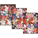 【Amazon.co.jp限定】和纸可爱澄 特选 手工染色 京友禅 千代纸 贴纸 樱花 60张装