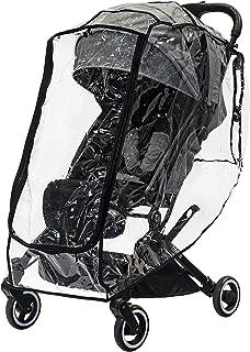 guzzie + Guss 通用婴儿车防雨罩(防风雨),透明,通风良好,防水雨罩具有独特的前拉链开口,适合大多数品牌的婴儿车,包括全尺寸和慢跑者