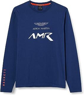 Hackett London 男孩 Amr 标志 T 恤 Ls Y T 恤