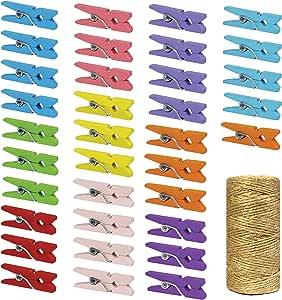 2.5 厘米小型木制衣服别针 彩色 CP250