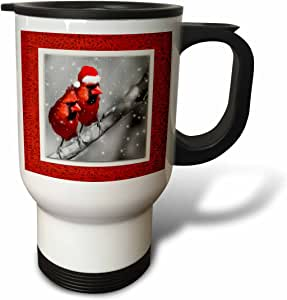 Doreen Erhardt Christmas - Christmas Cardinals - Travel Mug 白色 14oz Travel Mug