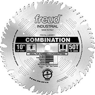 Freud LU84M011 10-Inch 50 Tooth ATB Combination Saw Blade with 5/8-Inch Arbor
