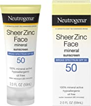 Neutrogena 露得清薄锌干爽 SPF30 防晒霜 2 液盎司