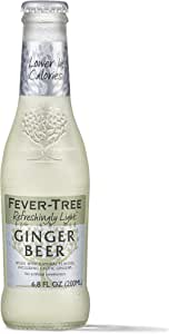 Fever-Tree 玻璃奶瓶 Light Ginger Beer 6.8 Ounce (Pack of 24)