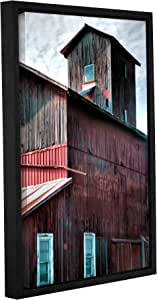 """ArtWall Steve Ainsworth's Old Granary Gallery Wrapped Floater Framed Canvas, 16 x 24"""""""