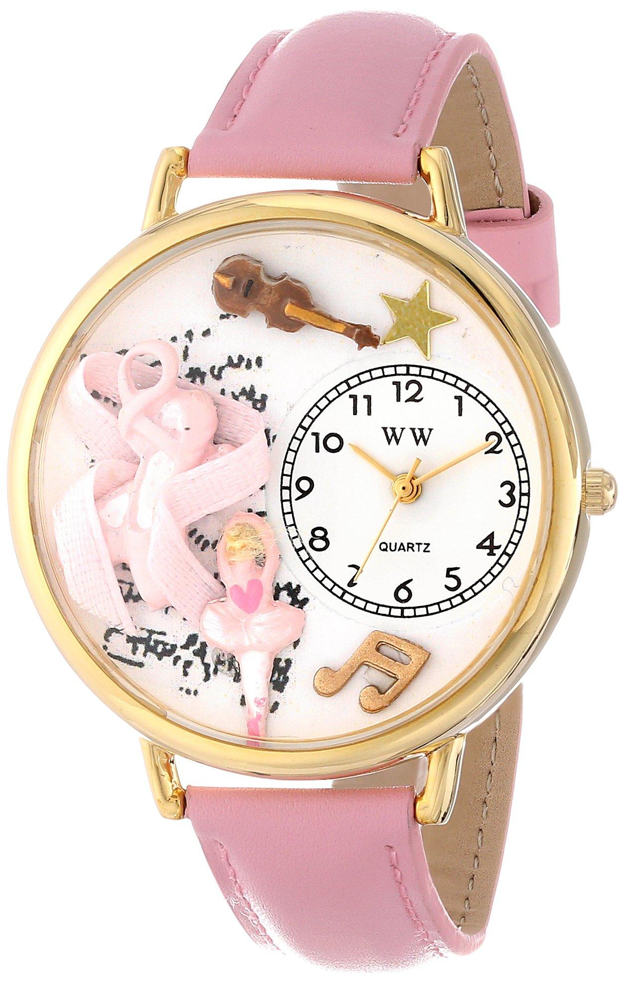 异想天文手表中性款 G0510003 芭蕾舞鞋粉色皮革手表