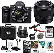 Sony 索尼 a7 III 全框无镜相机包ILCE7M3KB a7III Kit + SEL50F18F Lens Bundle 黑色