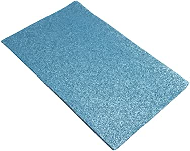 亮光亮片织物背面 Stiff DIY 工艺 12 件装 8 x 13 英寸 浅蓝色 HC0830