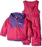 Columbia 青少年中性款幼儿双片套装,防水,隔热 Pink Ice/Grape Gum 4T
