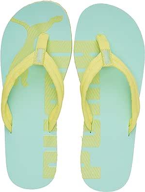 Puma 中性款成人 ' Epic Flip V2 沙滩泳池鞋 Green (Sunny Lime-mist Green 39) 10 UK