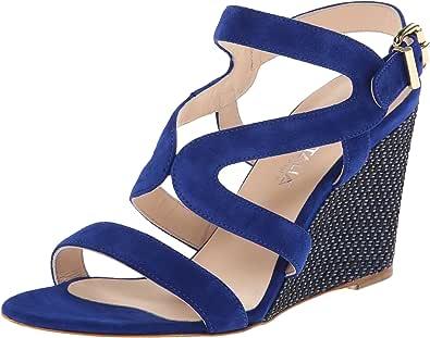 Aquatalia Surprise 女士坡跟凉鞋 蓝色麂Blue Suede) 7 M US