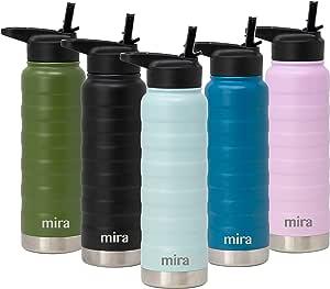 MIRA 不锈钢真空保温水瓶 珍珠蓝 25 oz (750 ml)