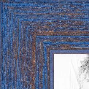 """画框灰色 乡村风 Barnwood 3.18 cm 宽 蓝色 6 x 15"""" 2WOM0066-77900-YBLU-6x15"""