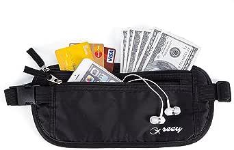旅行钱腰带带 RFID 屏蔽隐藏钱包腰包