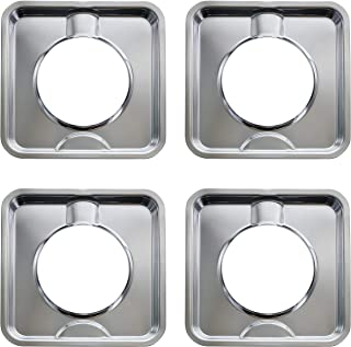 Kitchen Basics 101 SGP-400 4 件装镀铬方形燃气平底锅,可直接替换 786333、AP6011553、PS11744751 及其他