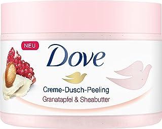 Dove 多芬 Creme-Dusch-Peeling 奶油淋浴磨砂膏,含石榴和乳木果油,令肌肤如丝般柔滑,4瓶装(4 x 225ml)