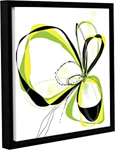 """ArtWall Jan Weiss's Ribbons 2 Gallery Wrapped Floater-Framed Canvas, 18"""" x 18"""""""