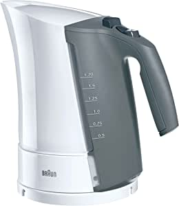 BRAUN 德国博朗 电热水壶 WK300 白色 (1.7L 容量/ 急速煮沸/ 水位指示器/ )(亚马逊自营商品, 由供应商配送)
