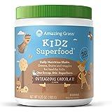 Amazing Grass - Kidz SuperFood粉末 30 服务粗暴的巧克力味道 - 6.5盎司